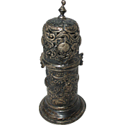 Hand Forged Quadruple Silver Plate, Georgian,Repousse, Standing,  NEEDLE CASE or BODKIN ; ...