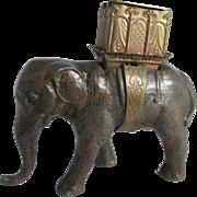 SALE RaRe W. Avery & Son,ELEPHANT w/ Howdah, PIN & NEEDLE Case; Original Antique c1880