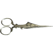 SWORDFISH Simon Brothers silver SCISSORS Hallmarked Antique Original c1800