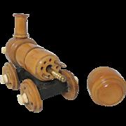 SALE Victorian Wooden Train Shaped CROCHET CASE  plus BONUS  TAMBOUR  W/ extra hooks ; Origina