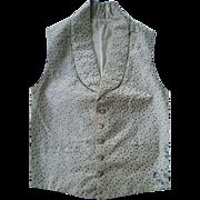SALE Rare and Beautiful Antique Georgian English Gentleman's Silk Brocade Georgian Waistcoat