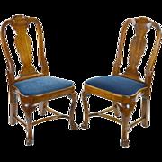 18th Century Queen Anne Chairs -  Pair