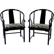 SALE Modern Ming Chairs by Baker - Vintage, Updated