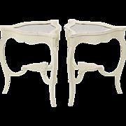 SALE Vintage Swedish Style Vitrine Tables - A Pair