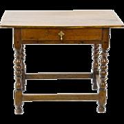 SALE Oak Jacobean Style Tavern Table