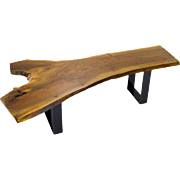 SALE Live Edge Walnut Bench or Coffee Table