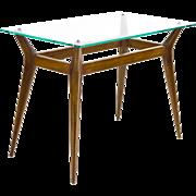 Modern Italian Glass Top Side Table