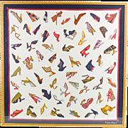 Salvatore Ferragamo fashion print on heavy silk