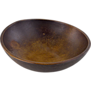 19thC Turned Wooden Bowl - 17 inch