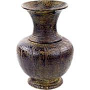 Khmer Pot with Flared Opening, Incised Decoration