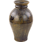 Antique Tall Khmer Pot with Modern Form
