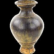 Classic Pedestal Form Khmer Vase - Antique
