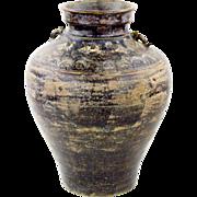 Large Stoneware Urn - Khmer Brown Glazed