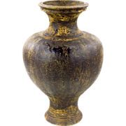 Khmer Stoneware Vessel - Antique Brown Glazed