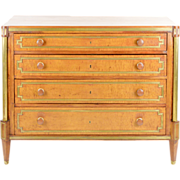 19th C Russian Maple and Brass Commode