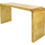 20th c. Modern Console Table in Exotic Wood, by Henredon