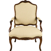 19th Century French Chair - New Linen