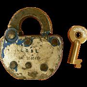 SOLD Sale Conemaugh & Black Lick Railroad Lock & Key Set, Pennsylvania