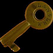 REDUCED Boston & Lowell and Nashua & Lowell Brass Switch key Civil War era Sale