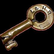SOLD Lehigh & Hudson River Railroad Brass Fraim Switch Key