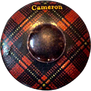 SALE Tartanware Mauchline Ware Tape Measure, Cameron