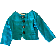 Blue doll jacket with metal buttons