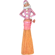 SALE Flapper pierrot half doll brush