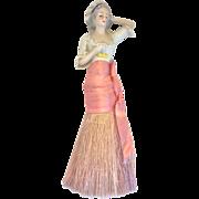 Lovely lady half doll brush