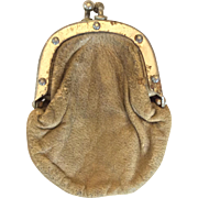 Leather doll purse