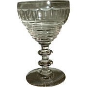 Set of 10 crystal cordial glasses