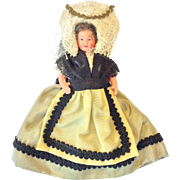 SALE Perret French doll with folk costume from Champagne