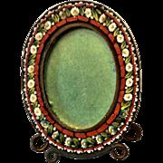 Doll size glass mosaic frame