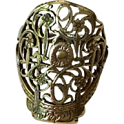 Ring made from antique watch-cock