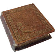 Book shaped box with silk and velvet lining