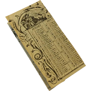 Miniature French list of Feast Days for 1847