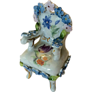 Vintage Elfinware chair with forget-me-nots