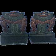 Art Deco Egyptian Revival Judd cast iron bookends