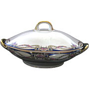Antique Carl Tielsch C.T. Altwasser Silesia Germany China Covered Casserole / Vegetable Bowl .