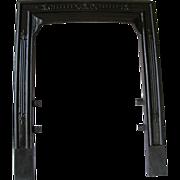 Antique Victorian Cast Iron Sparkle Fire Place Fireplace Door Frame Surround
