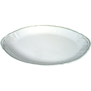 """Antique Large 19"""" Syracuse China Op Co Dinnerware Oval Serving Platter Plate"""
