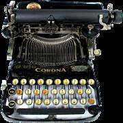 Early 1900's Corona 3 Portable Folding Typewriter Personal Writing Machine with Original ...