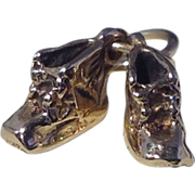 10k Yellow Gold, Baby Shoes Charm
