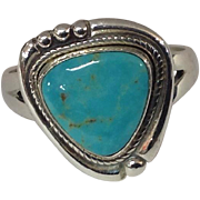 Bell Trading Post Sterling Silver Ring with Turquoise Stone, Classic Southwest Design, Ring ..