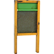 Child's Miniature Toy Washboard