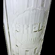 SOLD Shell-Penn Glass Motor Oil Bottle, 1 Liter
