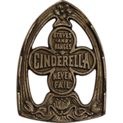 "Cast Iron Nickel Plated ""Cinderella"" Trivet"
