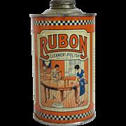 Vintage Rubon Cleaner & Polish Litho Tin