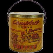 Campbell Brand Coffee Tin Pail