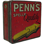 Penn's Spells Quality Tobacco Tin