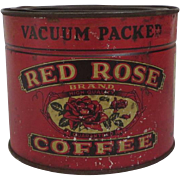 Red Rose Litho Coffee Tin